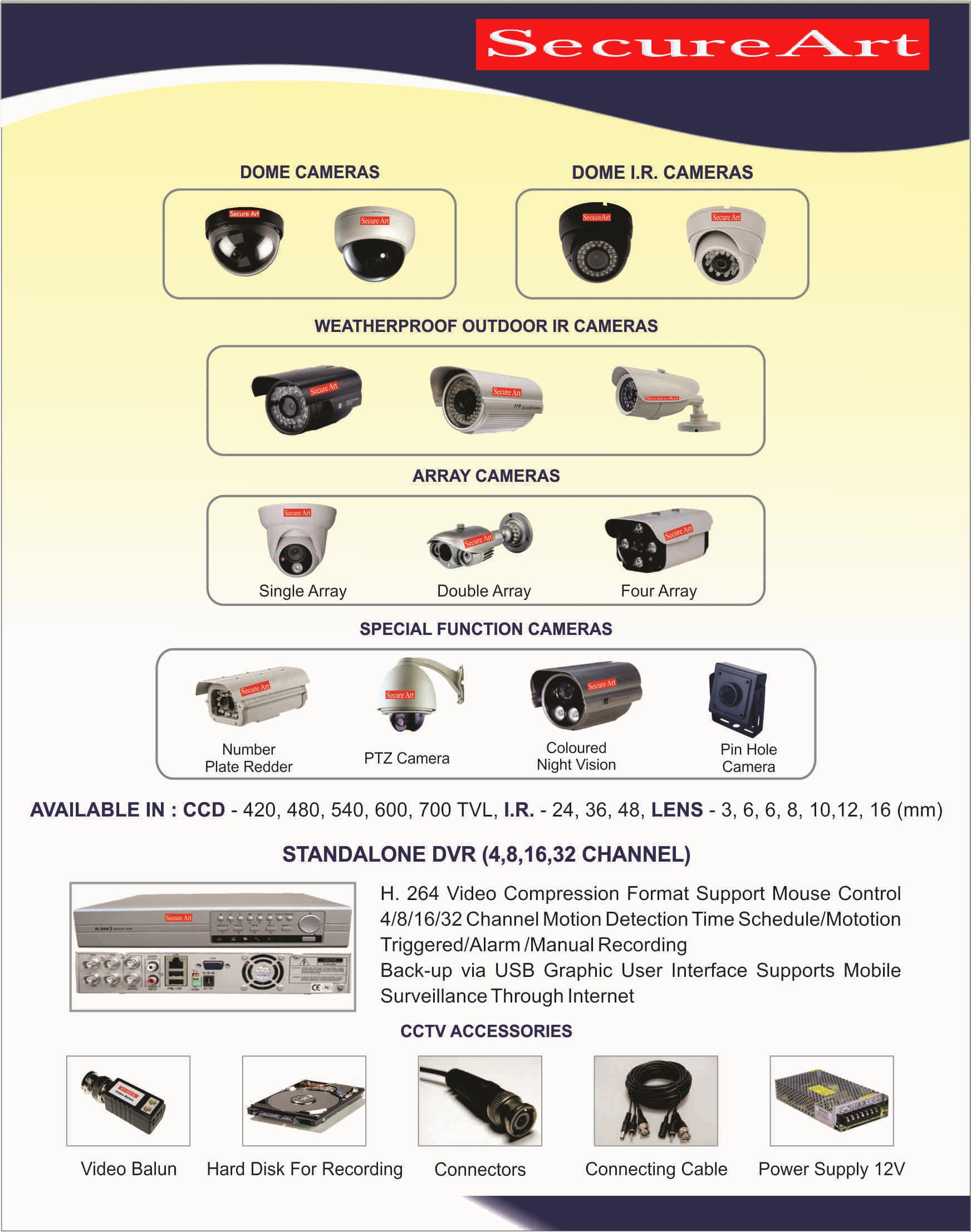 secure art cctv brochure